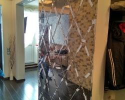 Зеркальное панно - рисунок ромб