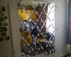 Зеркальная плитка ромб
