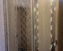 Зеркальное панно для дверей шкафа