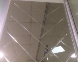 Зеркало с гравировкой ромбы