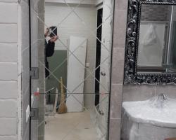 Гравировка на зеркале в ванной